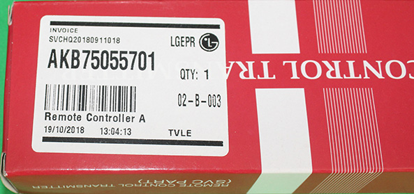 CONTROL REMOTO LG AKB75055701
